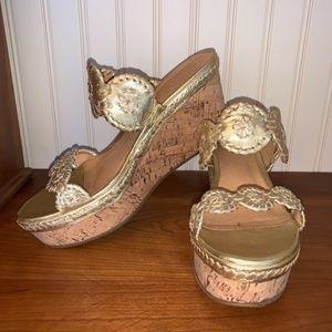 JACK ROGERS Shelby Wedge Sandal 9.5 $148